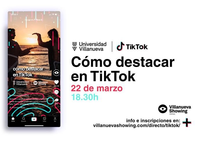 TikTok colaborador oficial en la XI edición de Villanueva Showing Festival